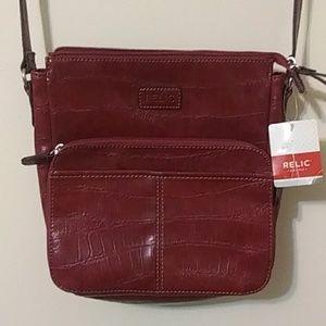 NWT croco red crossbody